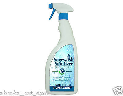 Sagewash 750ml Multi Surface Disinfectant Puppy Whelping Box Odour & Parvo Free