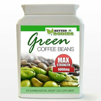90 GREEN COFFEE BEAN EXTRACT SUPER STRENGTH 6000MG WEIGHTLOSS CAPSULES BOTTLE nl