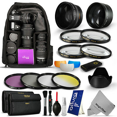 Lens & Filter Kit + Backpack for Nikon  D3300 D3200 D3100 D3000 D5200 D5100