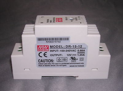 15W Single Output 24V Industrial DIN Rail Power Supply