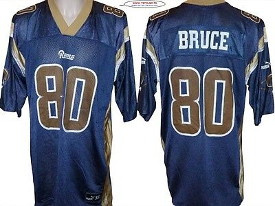 Maillot nfl Foot US américain RAMS 80 Bruce Taille XL (us) -> 2XL xxl (fr)