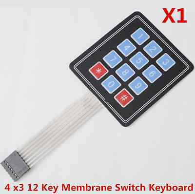 4x3 4*3 Matrix Array 12 Key Membrane Switch Keypad Keyboard for Arduino/AVR/PI​C