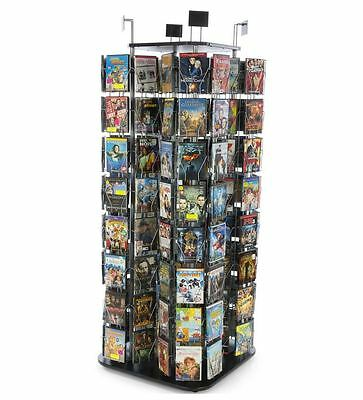CD, DVD, Literature,Greeting Card Postcard Rack Display 192 Pockets Tower Spins!