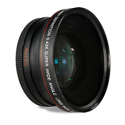 67MM Altura 0.43X Wide Angle Lens for Canon Rebel T5i T4i T3i 18-135mm 17-85mm