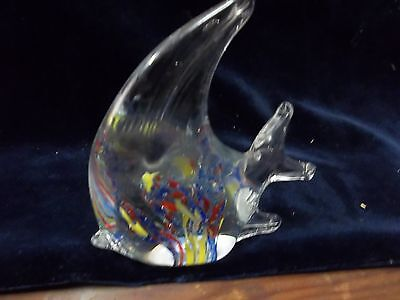 "VINTAGE GLASS FISH PAPER WEIGHT LOT #25 4""X4"""
