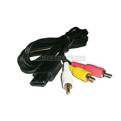 Tv Game Av Video Cable Cord For Snes Nintendo 64 N64 Un0F