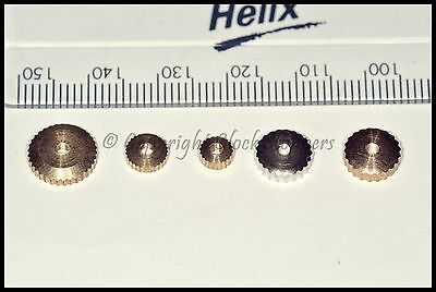 5 Assorted Clock Hand Nuts Hermle Repair Spares Parts Clockmakers American Dial