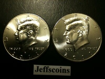 2011 P&D Kennedy Half Dollar Set GEM BU From MINT ROLL Clad No Silver 50 Cent