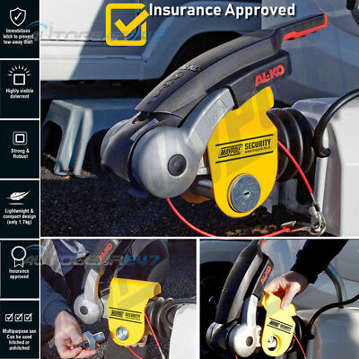 NEW Maypole MP956 Caravan Trailer Insurance APPROVED Hitch lock For Alko Hitches
