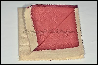 """Jewellery Polishing Cloth Rouge Impregnated Silver Brass Gold Buffing Rings 7"""""""