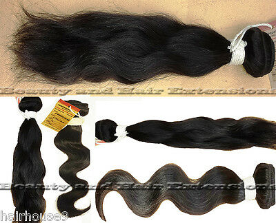 Brazilian Hair Extensions Real 100% Human Virgin Remy Natural Premium Weave 100g