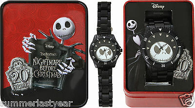 Jack 20Th Anniversary Watch & Collectors Tin 2013 The Nightmare Before Christmas