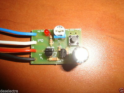 CAR TIMER SWITCH TIME RELAY 1 TO 190 SEC KIT Delay Off Led Lights 12V ON Button