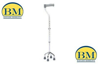 Quad Cane Walking Stick Height Adjustable Disability  Walking And Mobility Aids