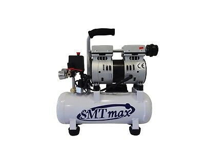 New 1/2HP, 2.4 Gallon. Medical Noiseless & Oil Free Dental Air Compressor 110v