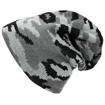 Mfh Mens Cold Weather Knitted Beanie Hat Warm Acrylic Winter Cap Army Urban Camo
