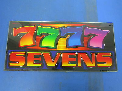 Bally Gaming Inc. Sevens Slot Machine Casino Glass Topper - Great Deal!