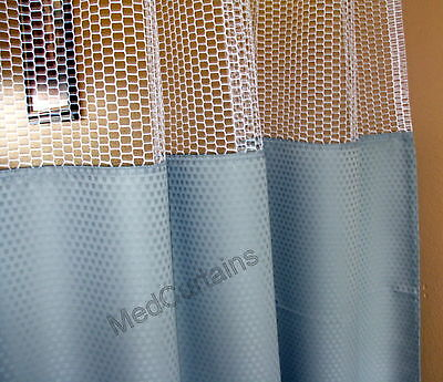 Curtain Bluemoon 96Wx93 HOSPITAL CLINIC LAB Antibacterial Antimicrobial medical