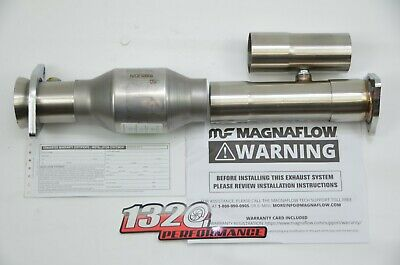 4 WAY ADJUSTABLE 88-00 Civic 90-01 INTEGRA 2.5 inch Test pipe GSR LS b18c1