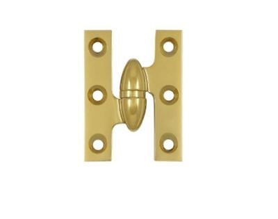 "Hinge Olive Knuckle Type 2""x1-1/2"" Square Corner Leaves in 10 Finishes FPL Door"
