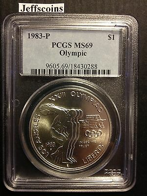 2011 S NGC PF69 + 1983p PCGS MS69 Olympic Silver Dollar & National Park Quarter