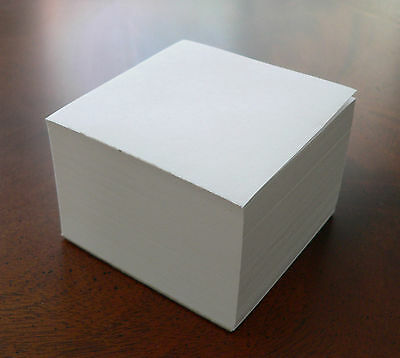 "Note Paper Refill Cube - Loose Sheets - ""For your Paper Holder"" 3 1/2"" x 3 1/2"""