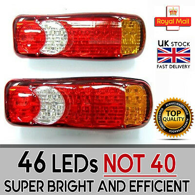 46 Led Rear Tail Lights Truck Lorry Trailer For Scania Volvo Daf Man Iveco 12V