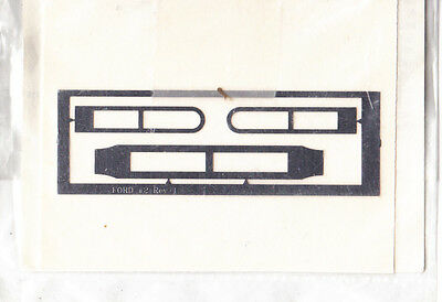 1//24 1//25 FORD NASCAR FRONT AIR DUCTS Cover Shot Photo Etch Detail Variant
