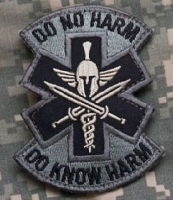 Do No Harm Spartan Acu Tactical Combat Medic Badge Morale Military Patch