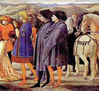 Adoration of the Kings [2] by Masaccio Giclee Fine ArtPrint Repro on Canvas