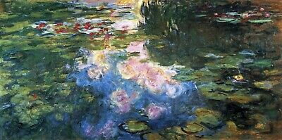 Water Lillies # 4 by Claude Monet Giclee Fine Art Print Reproduction on Canvas