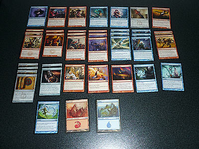 Magic the Gathering blau rotes Human Deck