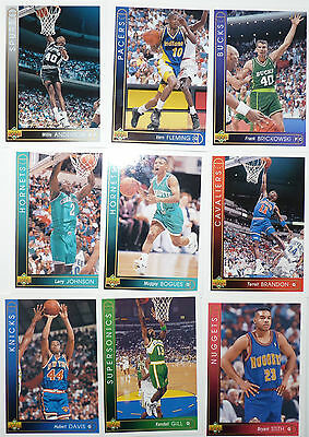 Lot de 10 Cartes cards basket NBA Upper Deck UD 1993/94 Version française