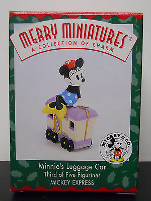 1998 Hallmark Merry Miniature Figurine Minnie's Luggage Car-QRP8506