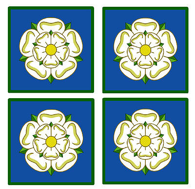 Yorkshire Flag Coasters - Set Of 4 Fun Coasters - Gift/ Present - Brand New