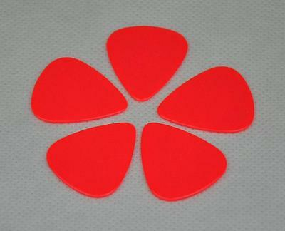 Lots of 24pcs New 1mm Heavy Gauge Guitar Picks Plectrums Celluloid Solid Red