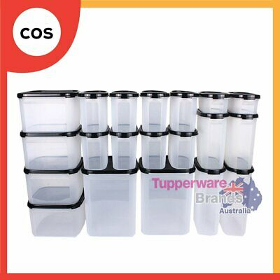 Tupperware 24 Pcs Modular Mates Essential Kitchen Combo Set -MM Square Oval-New