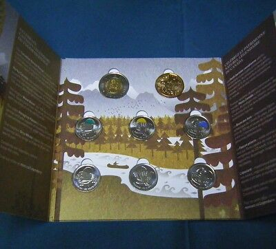 2011 Boreal Forest Parks Canada Legendary Nature coins w/ Collector Card Holder
