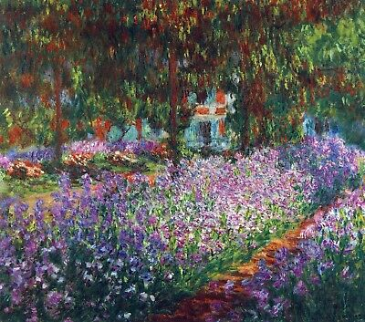 Monet's garden in Giverny by Claude Monet Giclee Fine Art Print Repro on Canvas