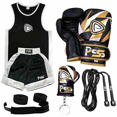 New Kids boxing set of 2 pieces top & shorts age 3-14 years boxing gloves 1001