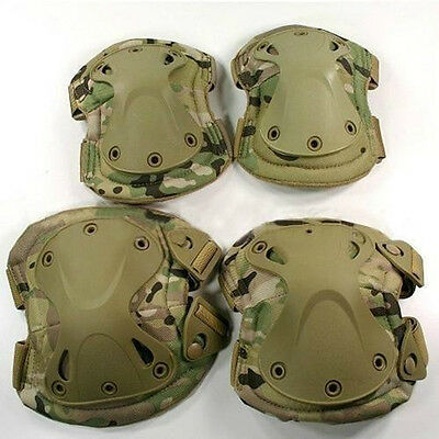 Adjustable Airsoft Tactical Combat Protective Knee/Elbow Pad Skate Knee Pads
