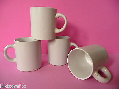 White Ceramic Mugs For Children To Paint and Decorate 7cm x 6cm Pack of 4