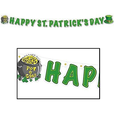 "Happy St Patrick's Day Streamer 5"" x 5' (B33830)"