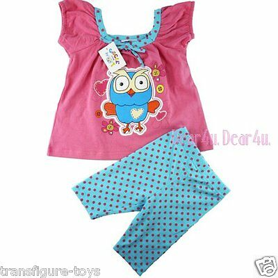Girls summer Giggle and Hoot Hoot pink top Outfit Summer Clothes size 1 2 3 4 5