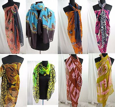 *US SELLER* 12 scarves wraps sarongs $3/pc Exotic colors, primitive designs