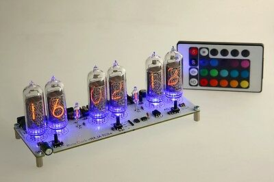 Maja RGB Nixie Clock IN-14  russian Six Digit Tubes Tube Clock with remote