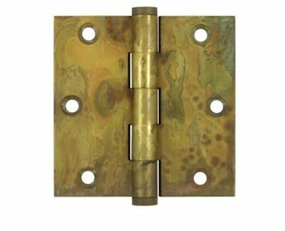 """Door Hinge 3-1/2"""" x 3-1/2"""" Square Corner, Solid Brass in 7 Ornate Finishes"""
