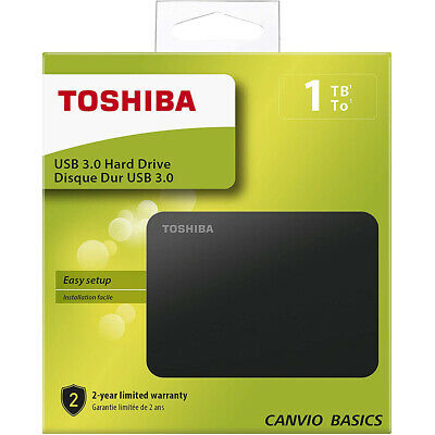 Hard Disk Esterno 1Tb 2,5 Toshiba Usb 3.0 & 2.0 Hardisk 1000Gb Compatibile Apple