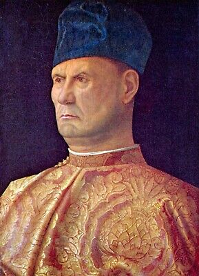 Portrait of a Condotti by Giovanni Bellini Giclee Fine Art Print Repro on Canvas