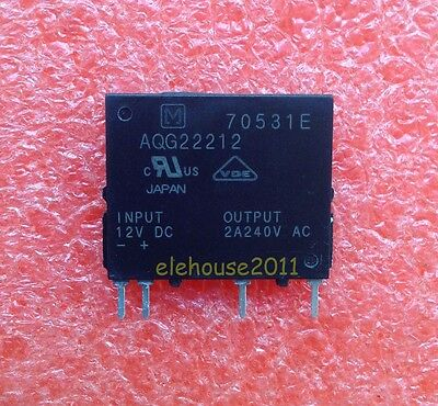 1pcs AQG22212 NAIS Encapsulation:ZIP-4,AQG Solid State Relay, Non-Zero Cross